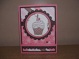Melissa cupcake card
